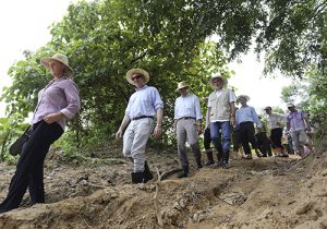 Delegates inspecting Quang Nam Province elephant protection area: Elephants in Vietnam