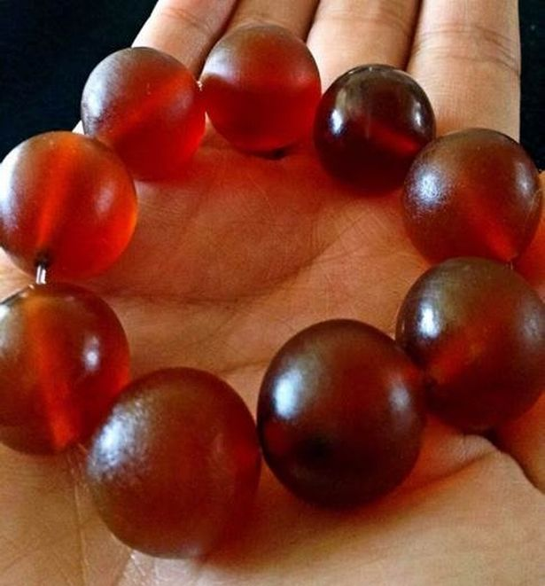 Blood Red Beads A Sample Of Elephant Skin Jewelry