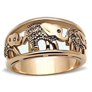 Yellow Elephant Women's Ring: Gifts for elephant lovers